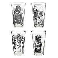 Star Wars Classic 4-pc. 16-oz. Glass Tumbler Set by Zak Designs