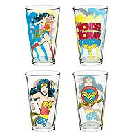 DC Comics Wonder Woman 4-pc. Glass Tumbler Set by Zak Designs