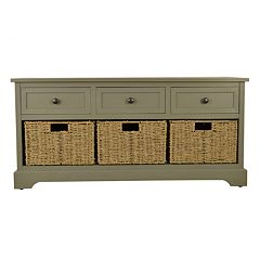 Decor Therapy Montgomery 3-Drawer Storage Bench