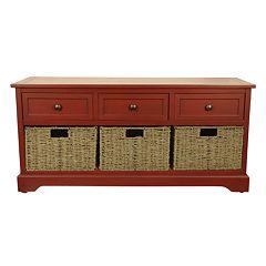 Decor Therapy Montgomery 3-Drawer Storage Bench