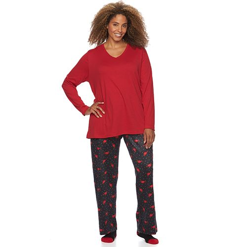780d42430f Plus Size Croft   Barrow® Pajamas  Knit   Fleece PJ Gift Set with Socks