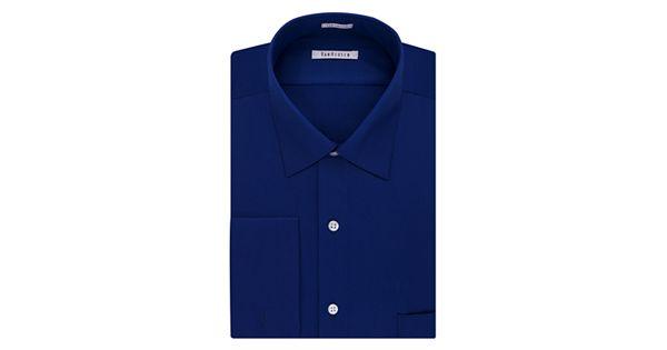 Men 39 s van heusen regular fit french cuff spread collar for Van heusen men s regular fit pincord dress shirt