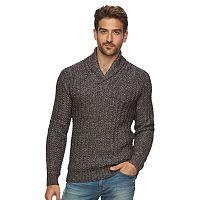 Men's Marc Anthony Slim-Fit Marled Raglan Shawl-Collar Sweater