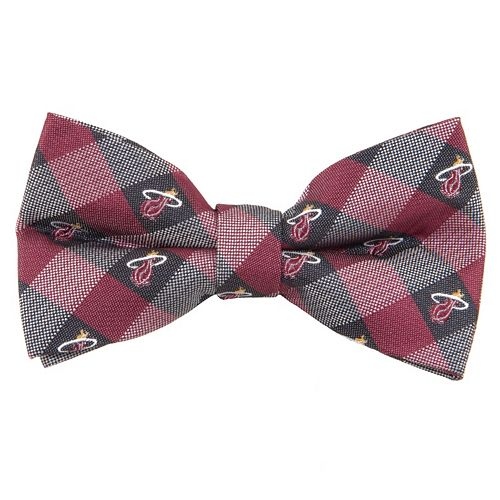 Adult NBA Check Woven Bow Tie