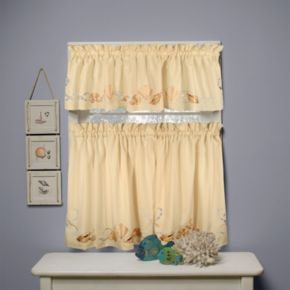 Seabreeze 2-pk. Tiered Curtains