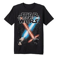 Boys 8-20 Star Wars: Episode VII The Force Awakens Glow-in-the-Dark Battle Sabers Tee