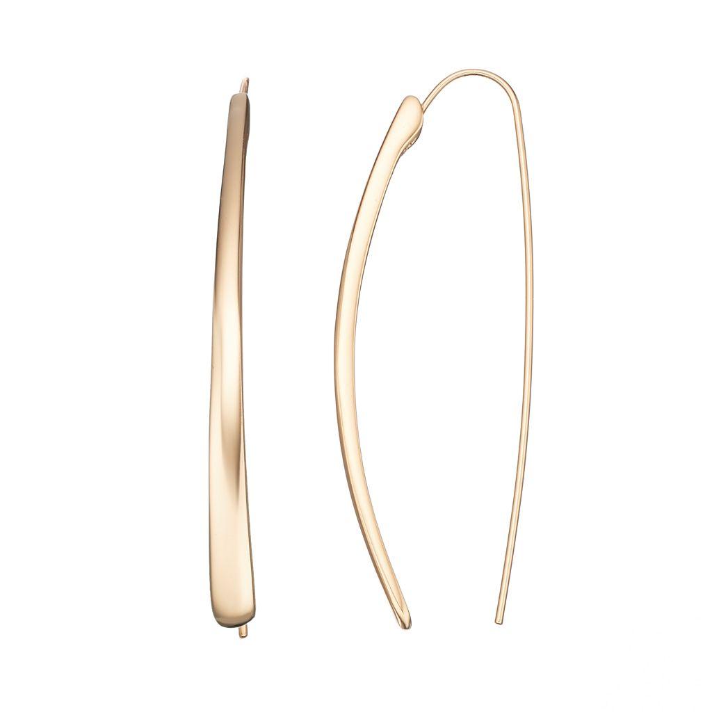 Jennifer Lopez Curved Stick Threader Earrings