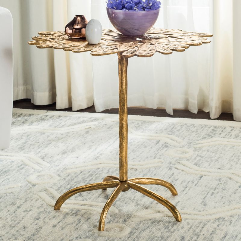 Safavieh Bobby Leaf End Table, Gold