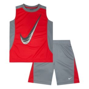 Boys 4-7 Nike Swoosh Muscle Tee & Shorts Set