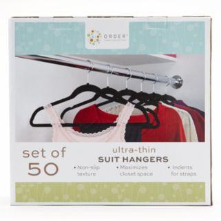 Cohesion 50-pk. Flocked Suit Hangers