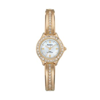 Armitron Women's Crystal Half-Bangle Watch - 75/5296MPGP