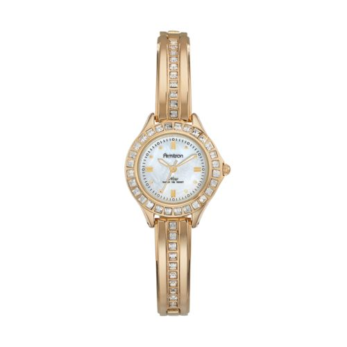 Armitron Women's Crystal Half-Bangle Watch – 75/5296MPGP