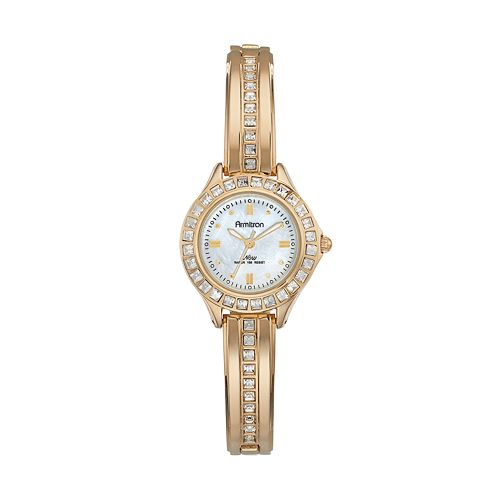 Armitron Women's Crystal Half-Bangle Watch - 75/5296MPGP
