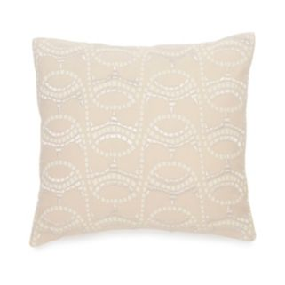 BiniChic Terracotta Embroidered Mosaic Throw Pillow