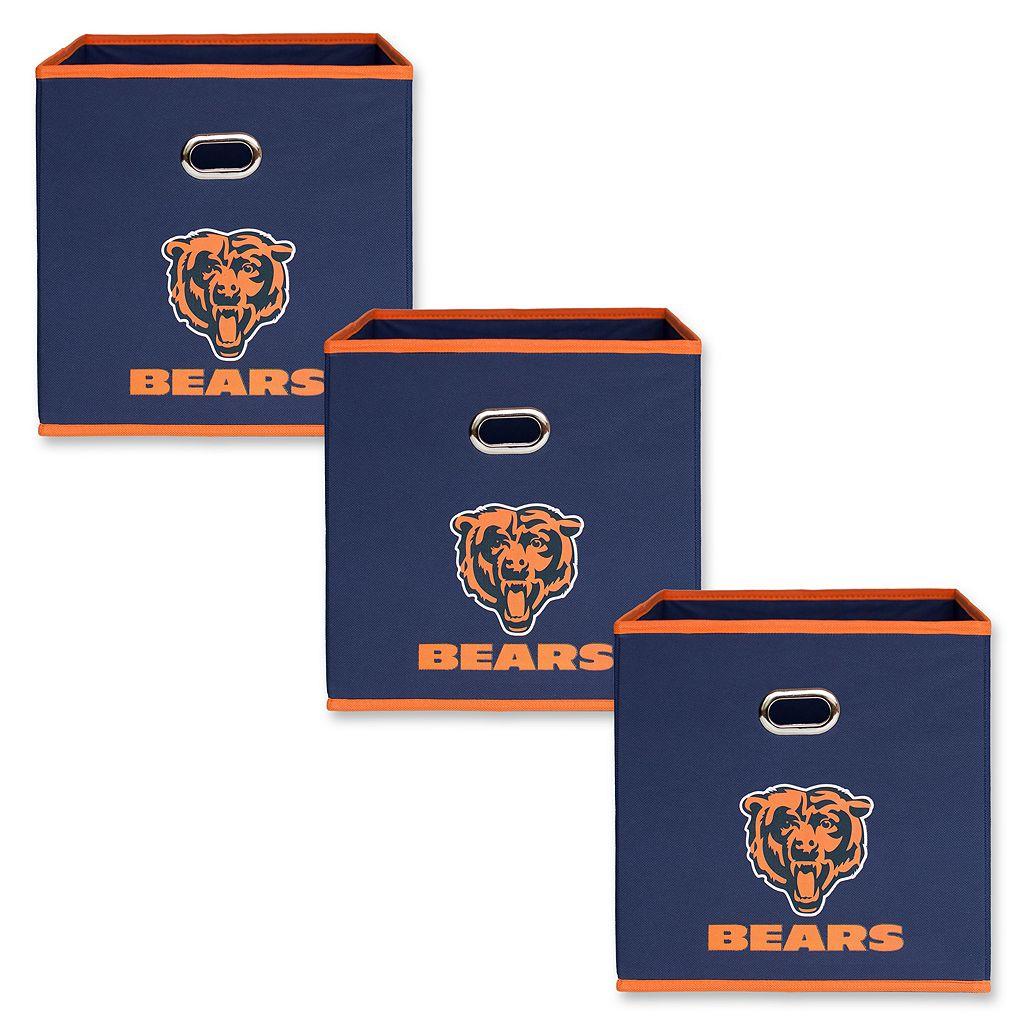 Chicago Bears 3-Pack Storeits Fabric Storage Drawers