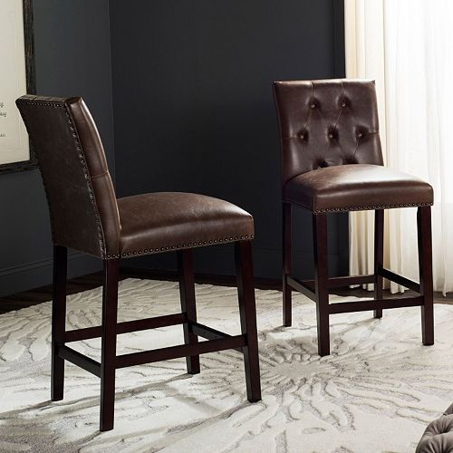 Safavieh Norah Faux-Leather Counter Stool