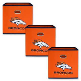 Denver Broncos 3-Pack Storeits Fabric Storage Drawers