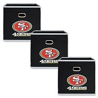 San Francisco 49ers 3-Pack Storeits Fabric Storage Drawers