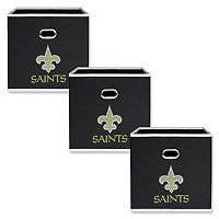 New Orleans Saints 3-Pack Storeits Fabric Storage Drawers