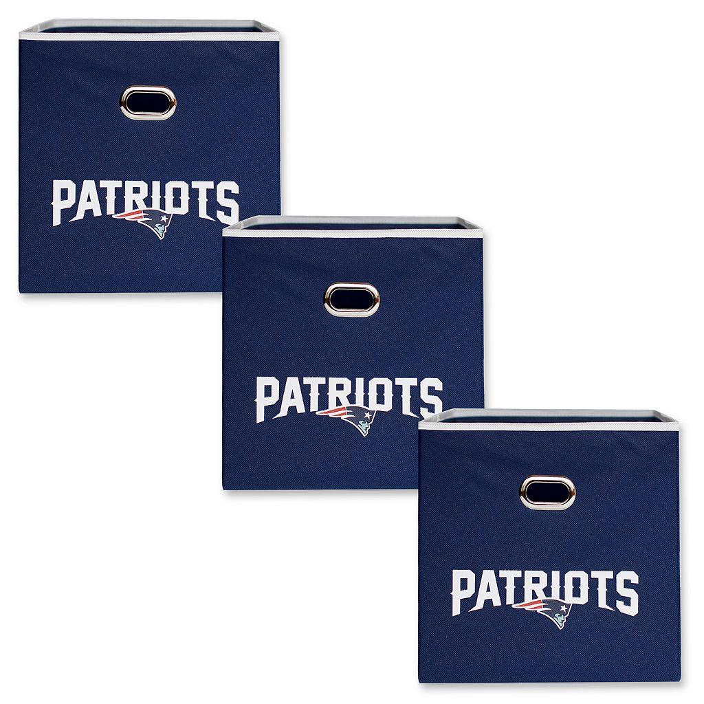 New EnglandPatriots 3-Pack Storeits Fabric Storage Drawers