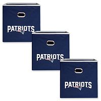 New England Patriots 3-Pack Storeits Fabric Storage Drawers