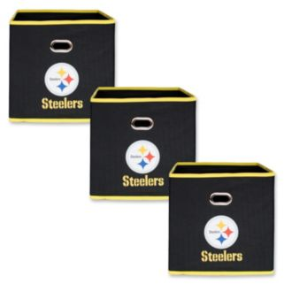 Pittsburgh Steelers 3-Pack Storeits Fabric Storage Drawers