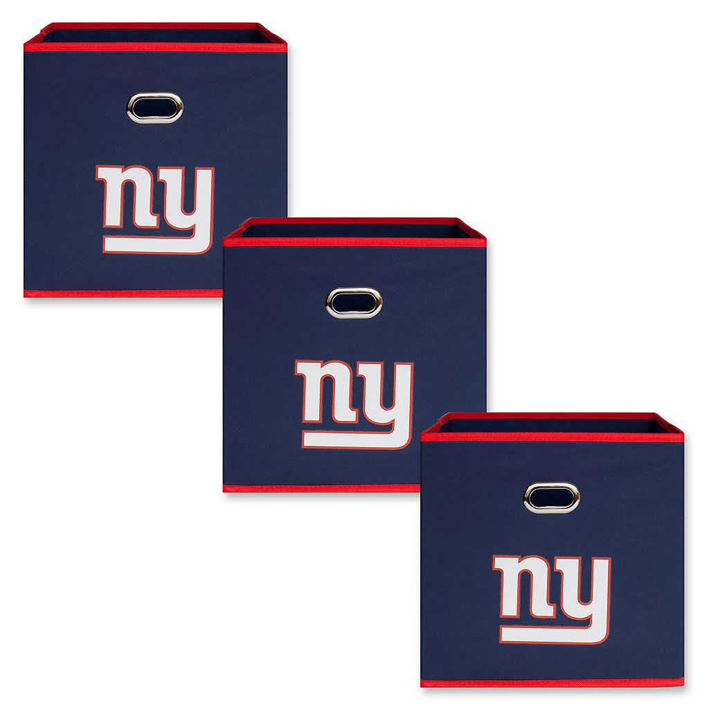 New York Giants 3-Pack Storeits Fabric Storage Drawers