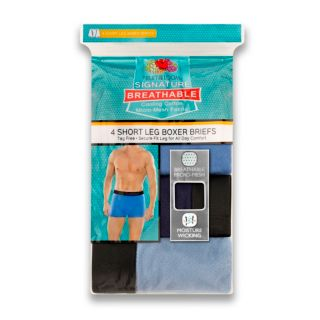 Men's Fruit of the Loom Signature 4-pack Breathable Short-Leg Boxer Briefs