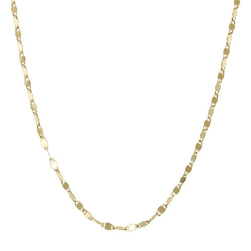 Everlasting Gold 14k Gold Valentino Chain Necklace