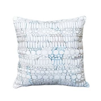Shell Rummel Square Multi-Colored Pebble Throw Pillow