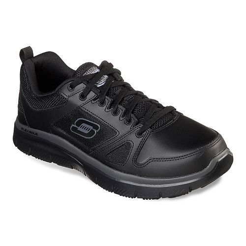 Skechers Relaxed Fit Flex Advantage SlipResistant Men Black Work Shoes