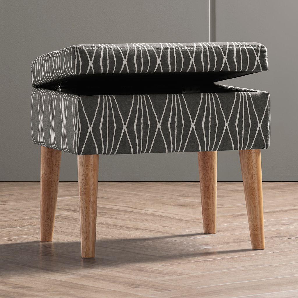 Apt. 9®Geometric Peg Leg Ottoman