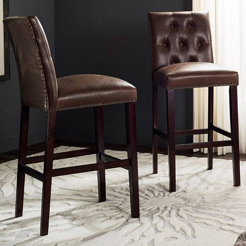 Safavieh Norah Faux-Leather Bar Stool
