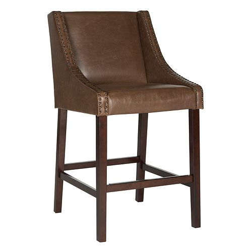 Safavieh Dylan Faux-Leather Bar Stool