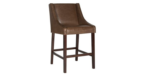 safavieh dylan faux leather bar stool. Black Bedroom Furniture Sets. Home Design Ideas