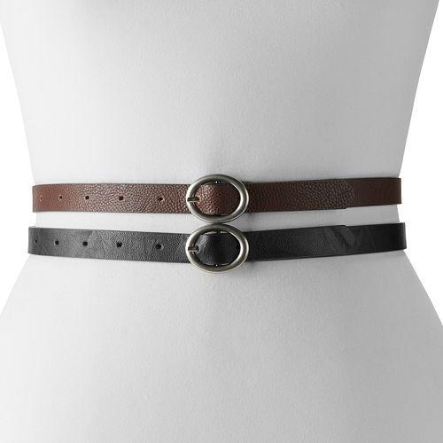 Women's Apt. 9® 2-for-1 Reversible Belt Set