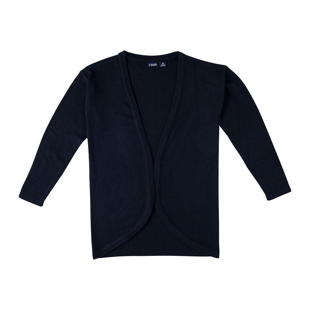 Girls 7-16 Chaps School Uniform Cocoon Sweater