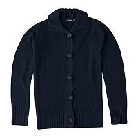 Girls 7-16 Chaps School Uniform Button-Front Sweater