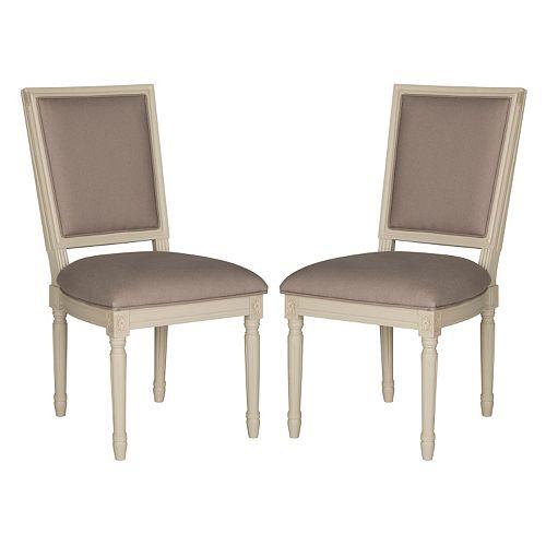 Safavieh Buchanan Taupe Dining Chair 2-piece Set