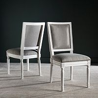 Safavieh Buchanan Gray Dining Chair 2 pc Set