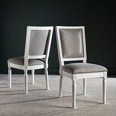 Safavieh Buchanan Gray Dining Chair 2 pc Set
