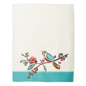 Lenox Chirp Embroidered Bath Towel
