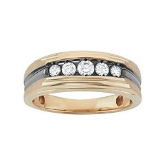 Men's Two Tone 14k Gold 1/2 Carat T.W. Diamond Wedding Band
