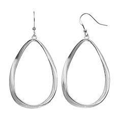 Twisted Open Teardrop Earrings