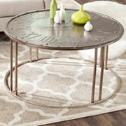 Safavieh Roman Clock Design Coffee Table