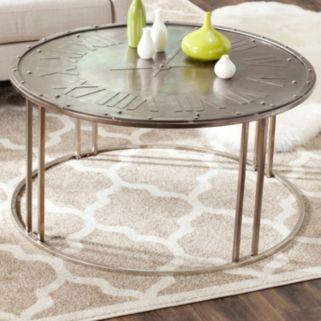 Safavieh Roman Clock Design Coffee Table