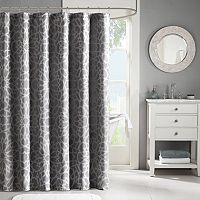 Madison Park Metallic Jacquard Shower Curtain