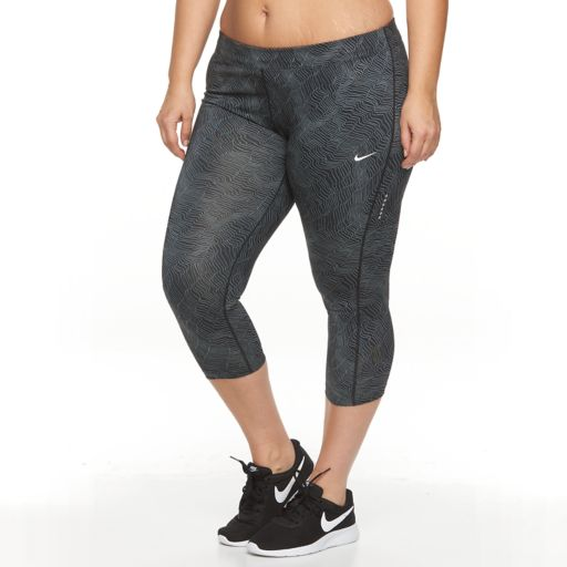 Plus Size Nike Power Essential Workout Crop Leggings