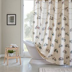 HipStyle Milo Bicycles Shower Curtain