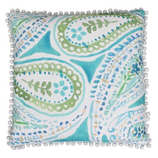 Thro by Marlo Lorenz Katerina Pom Pom Throw Pillow